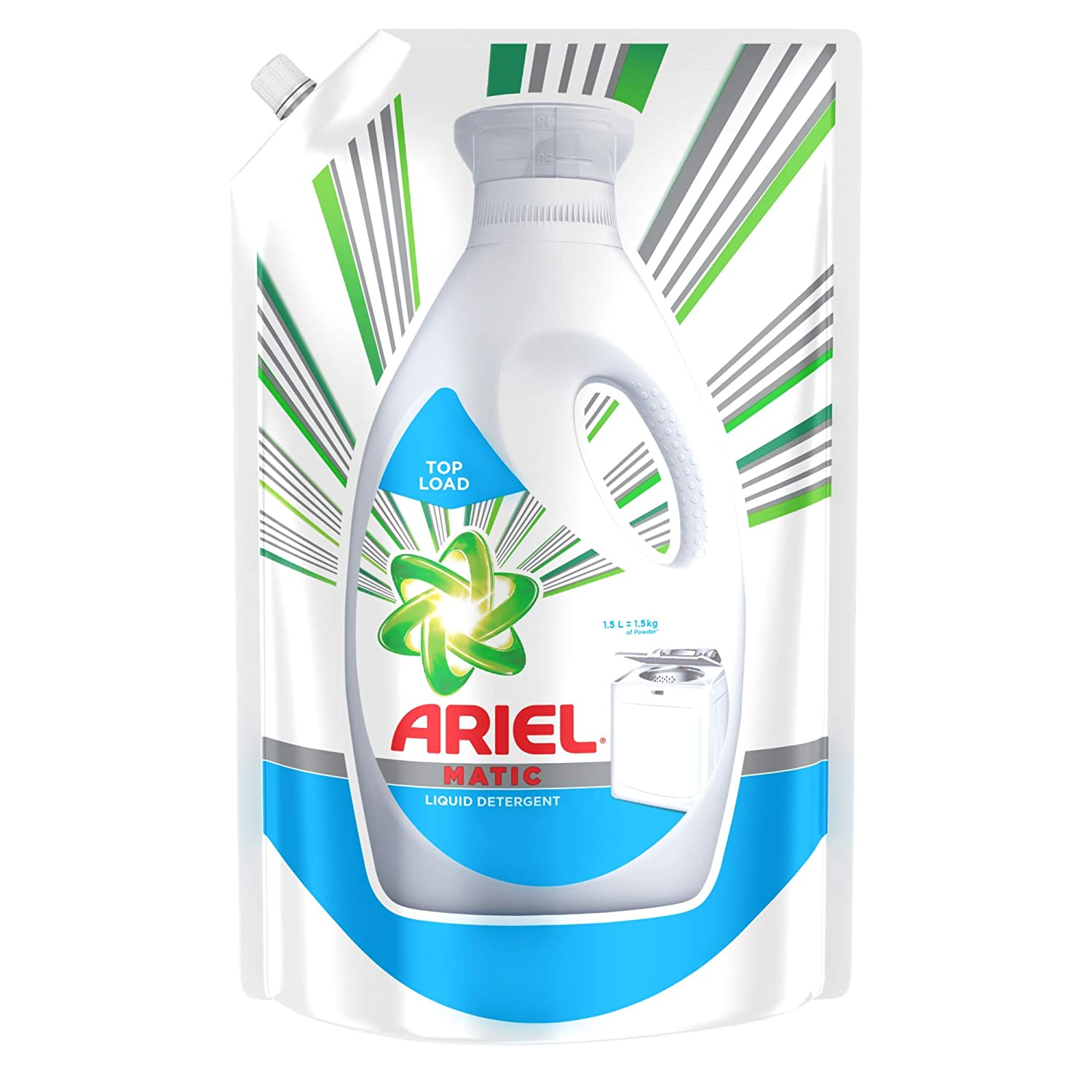 Ariel Matic Liquid Detergent Top Load 1.5 Litre Refill Pack for ₹221