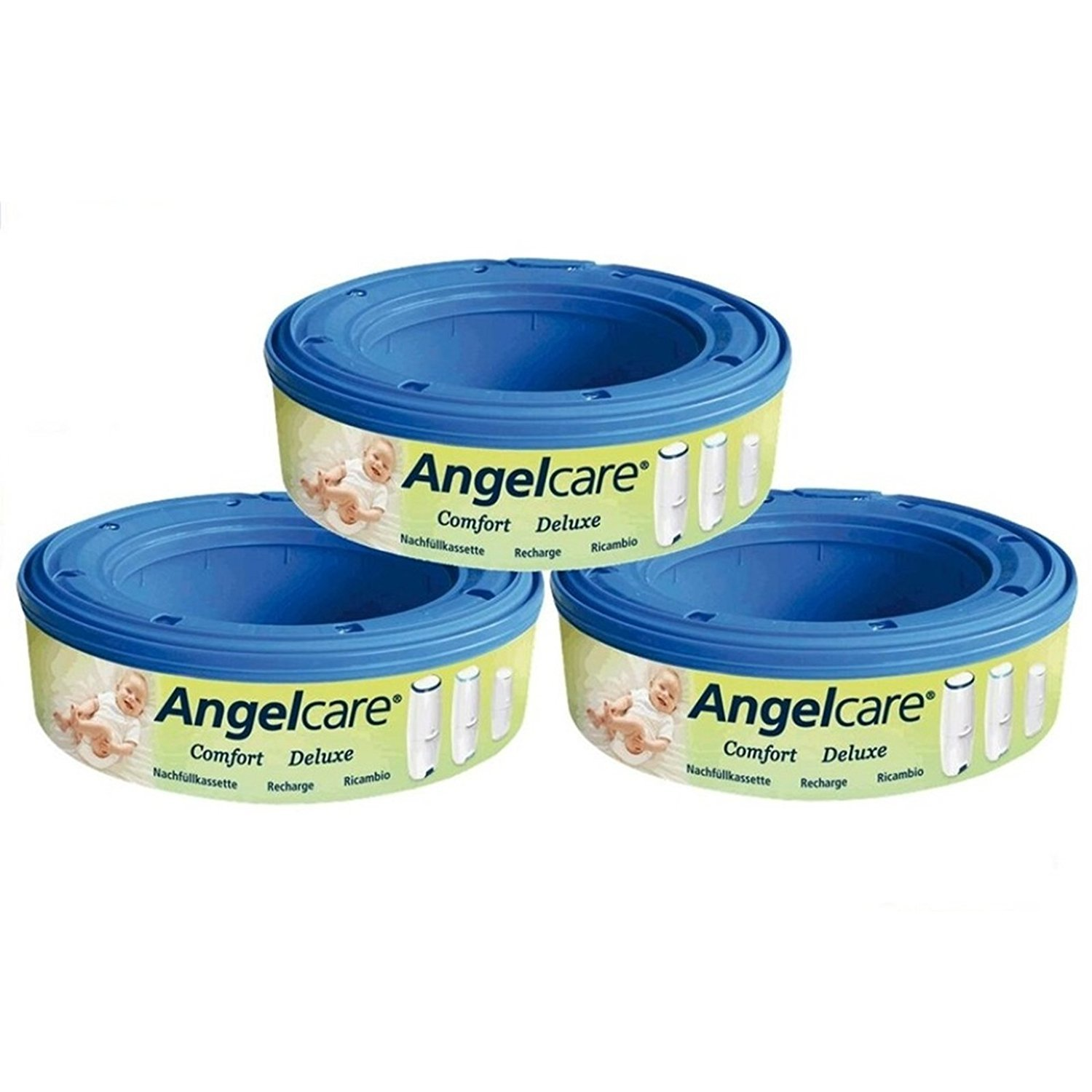 Angelcare 180400 3 with Refill Cartridges – Blue The Caged Fox 180400-3n