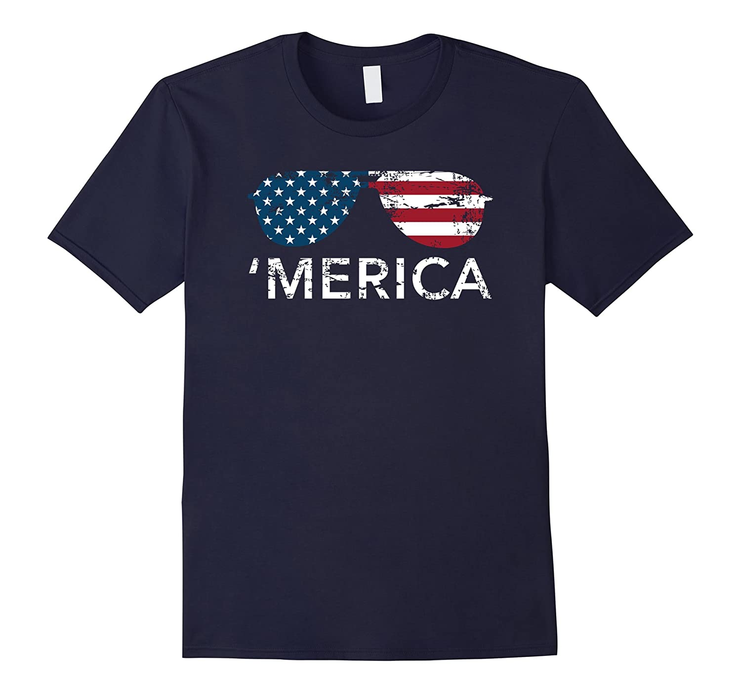 'Merica sunglasses USA Patriotic Memorial Day tee shirt-BN