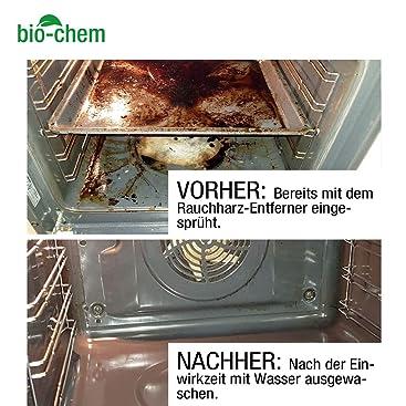 Bio-Chem - Limpiador de resina de humo, 500 ml concentrado + botella de recarga de 1000 ml hasta 60 l, incluye botella de mezcla: Amazon.es: Jardín