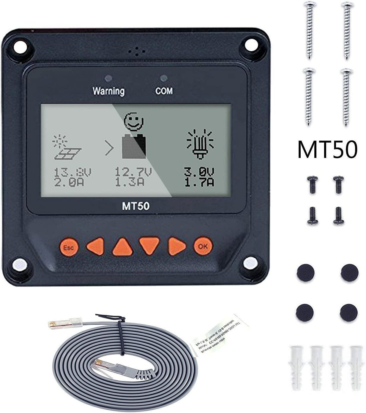 EPEVER MT50 LCD Display Remote Meter for TracerAN TRIRON N Tracer-BN VS LS-B Series mppt pwm Solar Controller