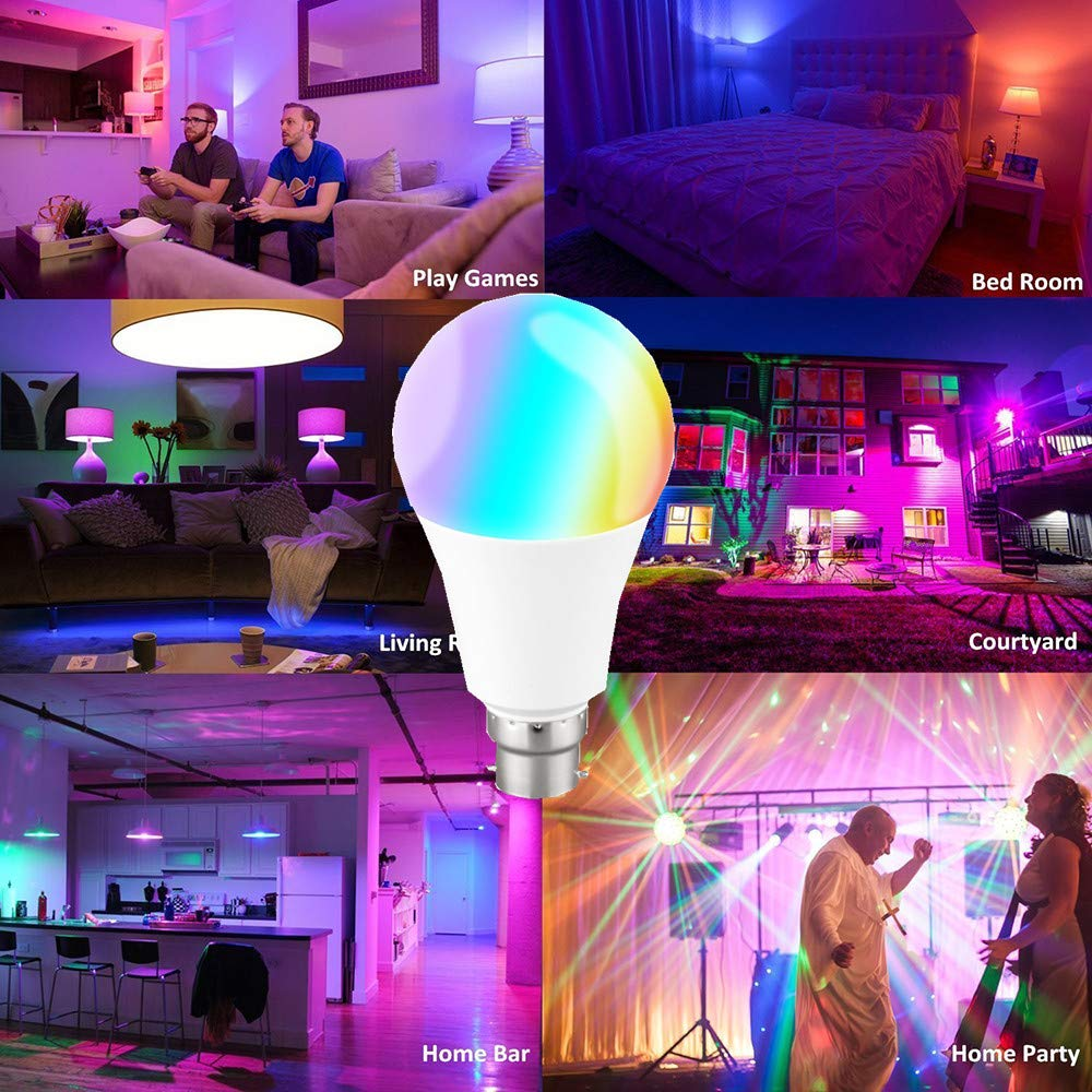 Amazon.com: Taco Mocho LED Bulb Lamps 11W E27 B22 Smart Light Bulb WiFi Voice Control RGB Energy Saving Dimming LED Bulb High Brightness Bombilla: Kitchen & ...
