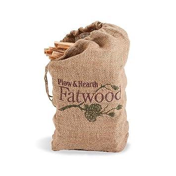 burlap bag of fatwood - Fatwood