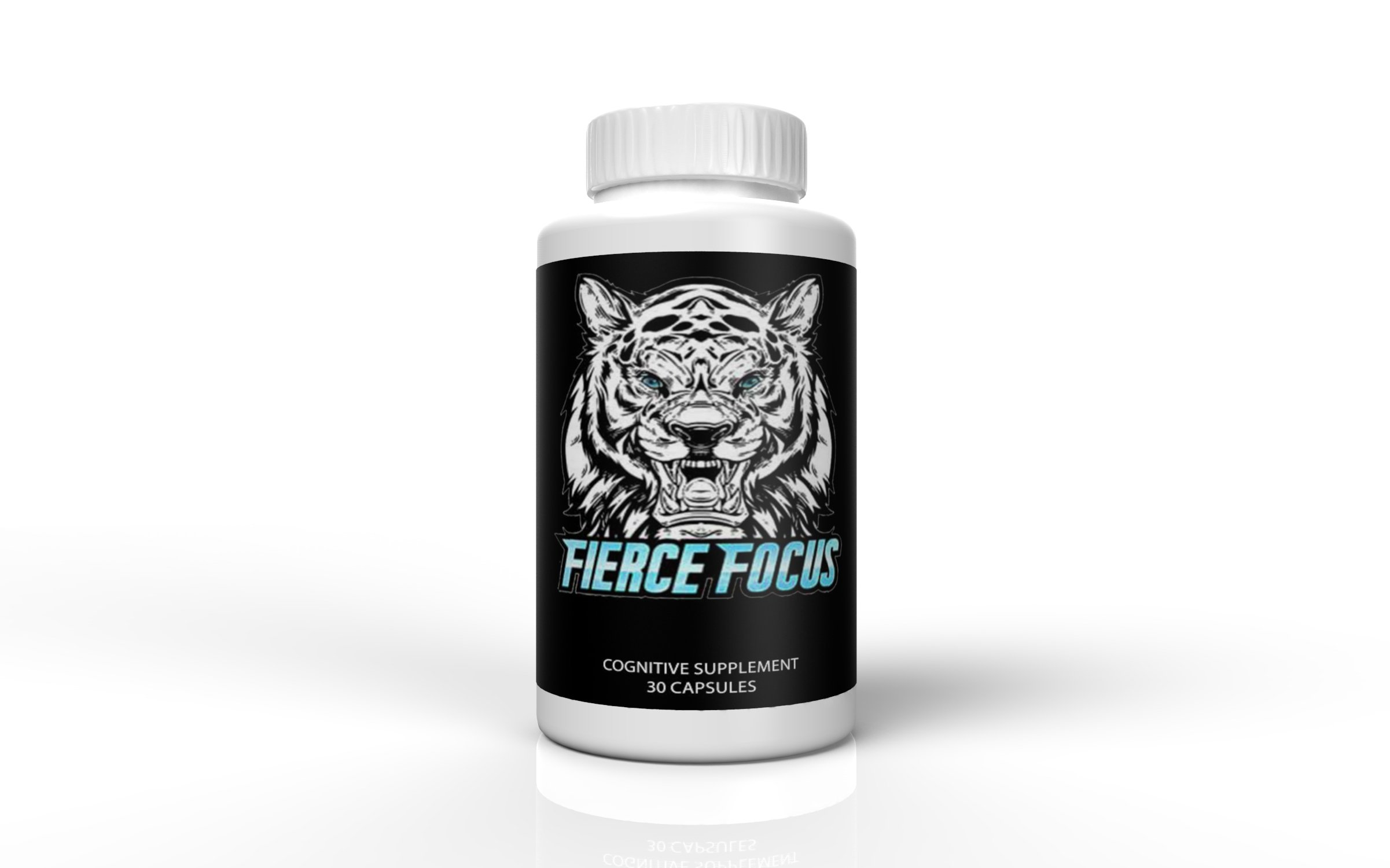 Fierce Focus- Natural Brain Function Support - Memory, Focus & Clarity Formula -Optimal Performance Natural Nootropic and Cognitive Support Supplement - DMAE- 30 Capsules by Fierce Focus