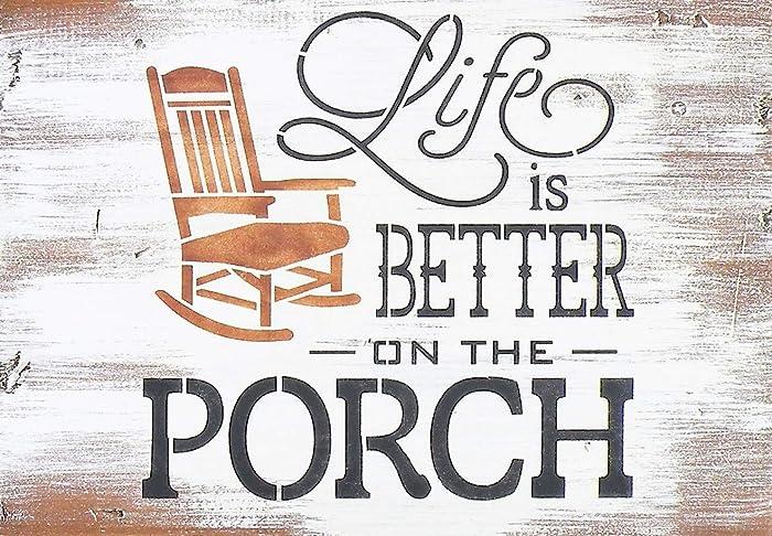 Magnificent Amazon Com Handmade Life Is Better On The Porch Rustic Pine Inzonedesignstudio Interior Chair Design Inzonedesignstudiocom