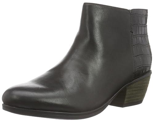 Clarks Gelata Italia, Botines para Mujer, Negro (Black Combi Leather), 36 EU: Amazon.es: Zapatos y complementos