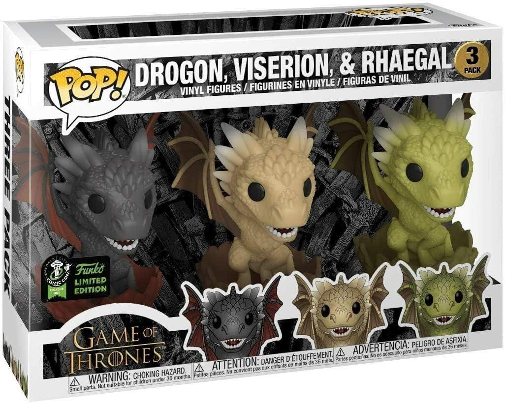 Funko Pop Game Of Thrones 3 Dragons Eccc Exclusive Figures Amazon Canada