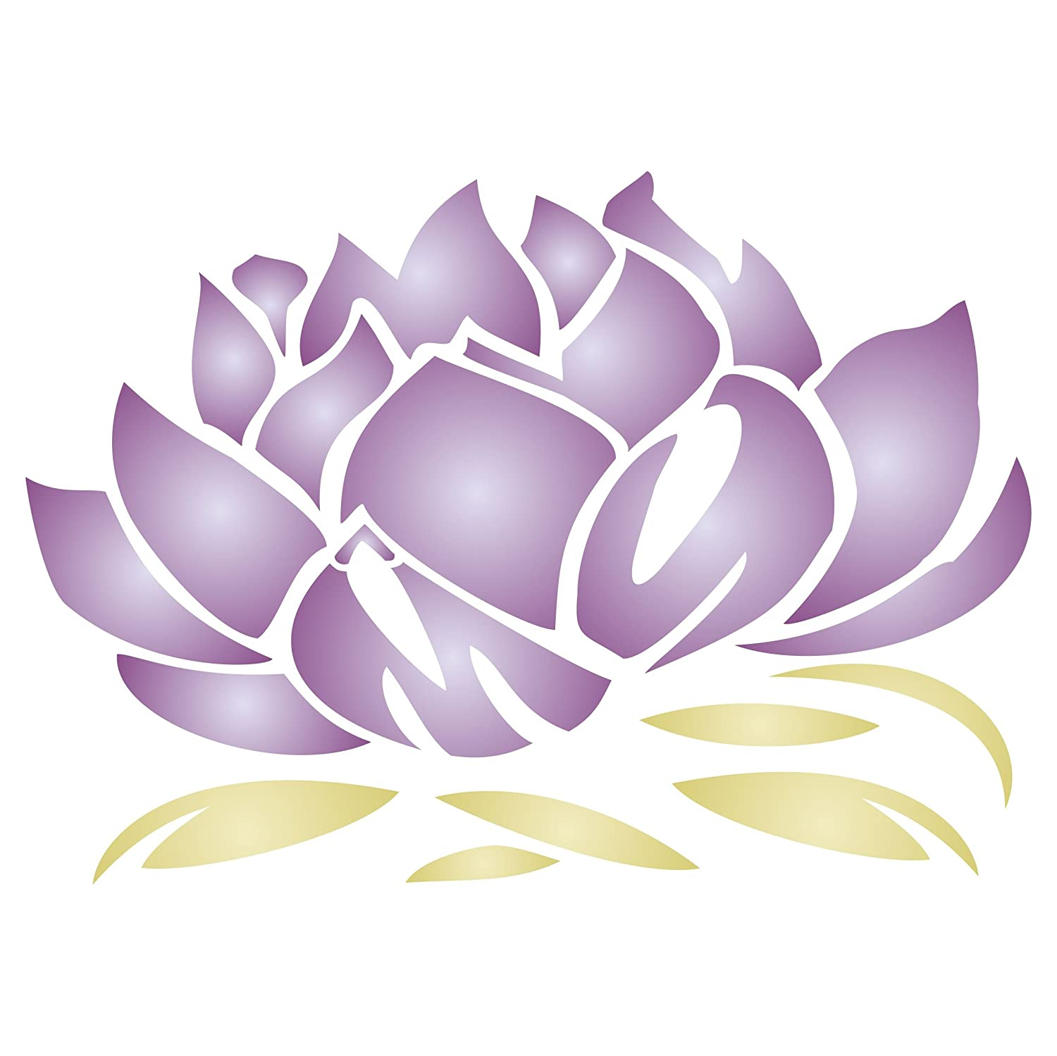 Amazon Lotus Blossom Stencil Size 12w X 825h Reusable