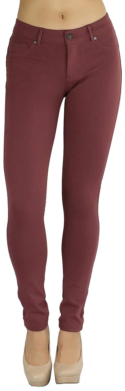 Marsala ToBeInStyle Women's 5Pocket Skinny Fit Ponte Pants