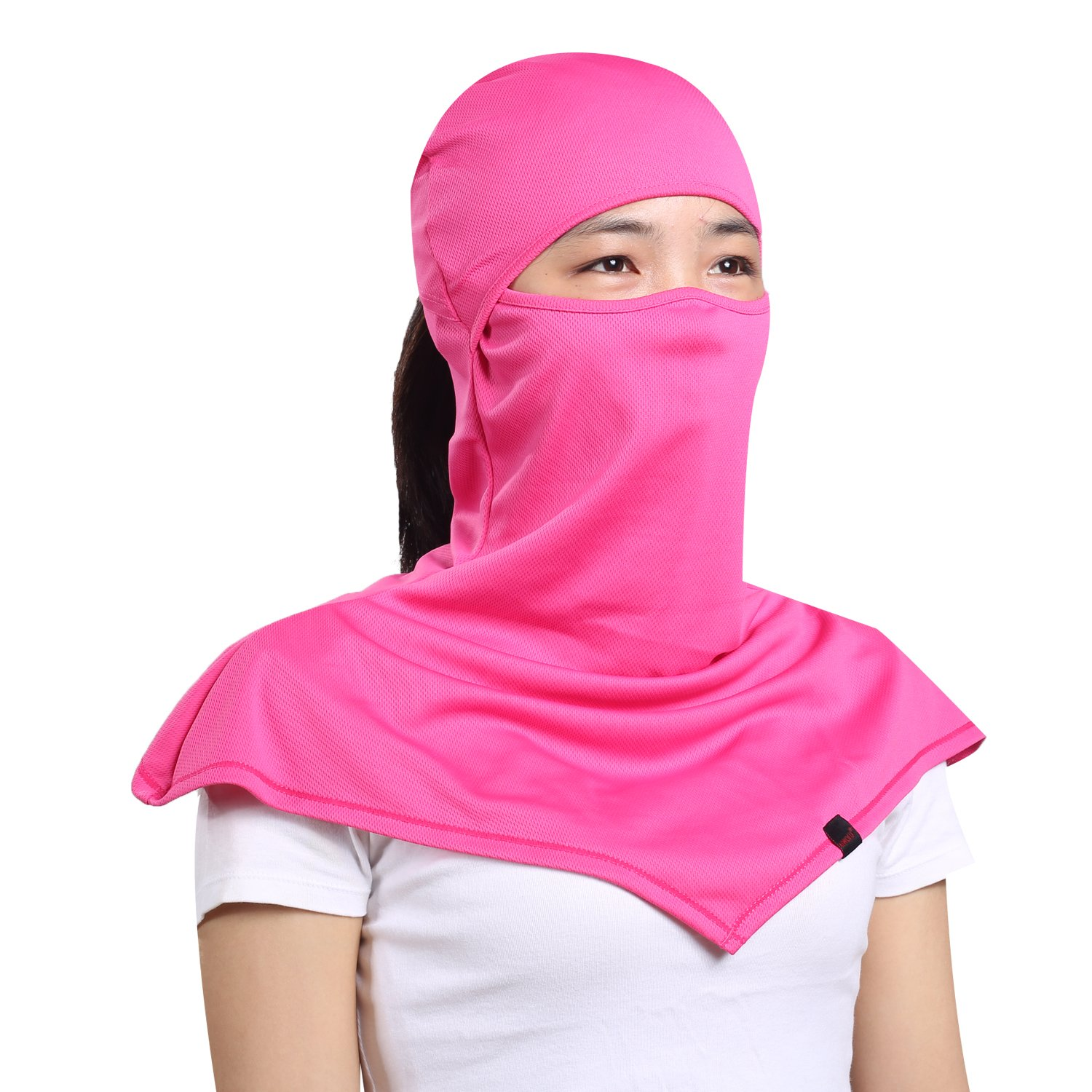 AIWOLU Balaclava for Women- Windproof and Dust Moisture Wicking Women's Full Face Mask Longer Elastic Breathable Neck Cover Hood For Cycling & Leisure Sports