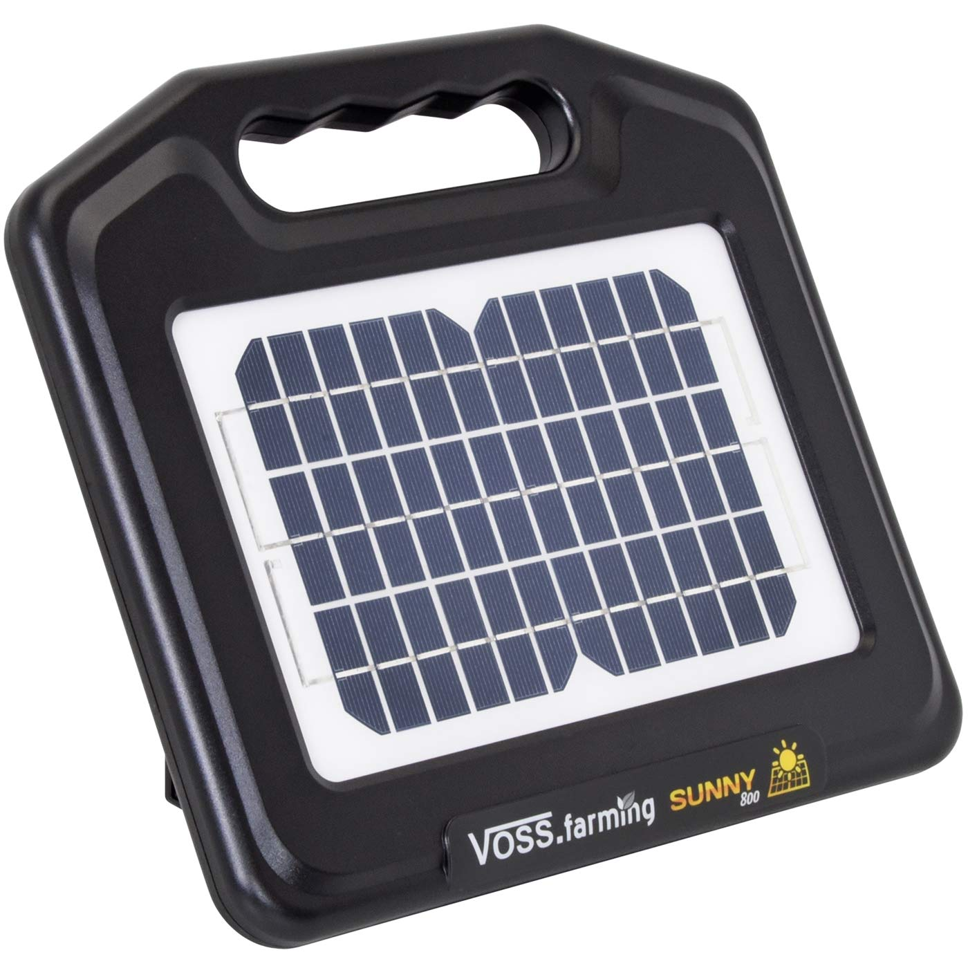 VOSS.farming  Sunny 800  Electric Fence Solar Energiser   0.65 J, 9500 V   incl. Li-Ion Rechargeable Battery + Mains Adapter