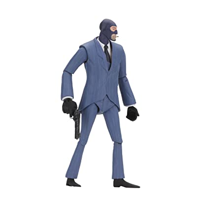 "NECA - Team Fortress 2 - 7"" Scale Action Figure - Series 3.5 BLU Spy: Toys & Games"