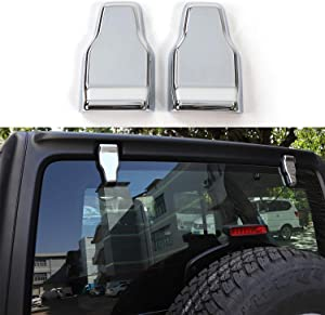RT-TCZ Rear Tail Door Window Hinge Decorative Cover Trim for Jeep Wrangler JL 2018-2021 (Light Color, Rear Window Hinge Decor)