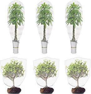 WOCLOER 6 Packs Insect Bird Barrier for Plants, Plant Insect Screen with Drawstring, 55 x 41inch Flower Garden Plant Barrier Bags for Protecting Your Plant Fruits Flower