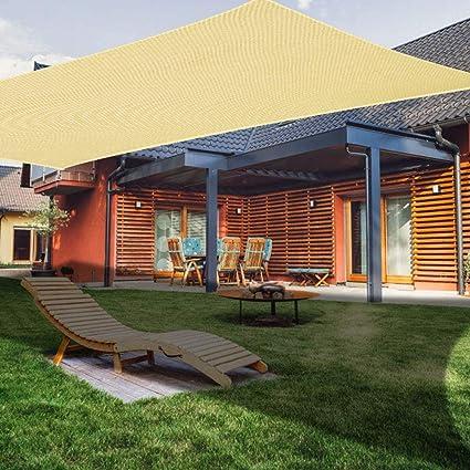 AZUOYI Vela De Sombra Rectangular, Toldo Resistente Y Impermeable, para Exteriores, Jardín, Viene con Un Conjunto Completo De Accesorios De Instalación,Beige,2x3M: Amazon.es: Deportes y aire libre