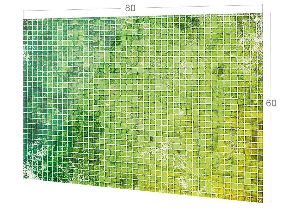 Glasbild ALS K/üchenr/ückwand GRAZDesign 200078/_60x40/_SP K/üchen-Spritzschutz aus Echtglas Bild-Motiv Mosaik-Optik K/üchenspiegel 60x40cm