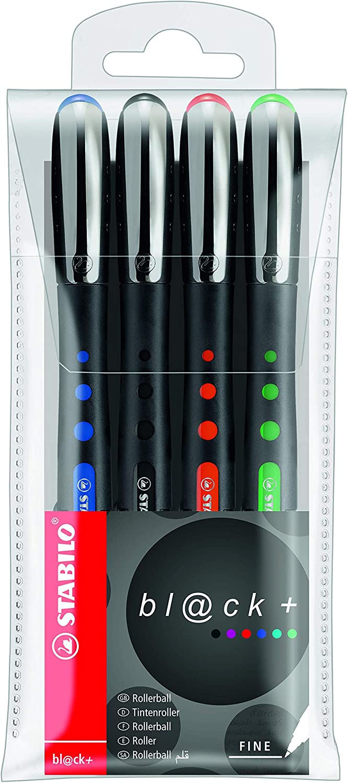 Stabilo Bionic Black Pointball Pen Fine Wallet , Set of 4 , Multicolored