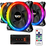 Aigo Aigo Aurora DR12 3IN1 Kit Case Fan 3-Pack RGB LED 120mm High Performance High Airflow Adjustable colorful PC CPU…
