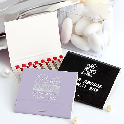 Pack de 50 cajas de cerillas personalizadas, con 2 líneas de texto y logo: Amazon.es: Oficina y papelería