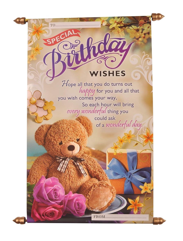 Saugat Traders Birthday Gift Happy Birthday Scroll Card For Best Friend Girls Sister Wife Girlfriend Boyfriend Husband Amazon In Toys Games