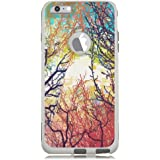 iPhone 6 Case White Woodland Tree Sunrise [Dual Layered] Protective Commuter Case for iPhone 6S White Case by Unnito