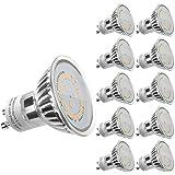 LE 10 Pack GU10 LED Light Bulbs, 50W Halogen Bulbs Equivalent, MR16 3.5W, 350lm, Warm White, 3000K, 120° Beam Angle, Recessed Lighting, Track Lighting