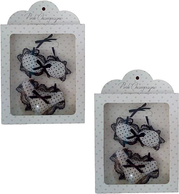 Ducomi® -Lingeparf. Pack de 2 ambientadores con forma de lencería íntima y lazo incorporado para colgarlos en el armario. Fragancias para prendas y cajones de lencería. Diseño italiano: Amazon.es: Hogar