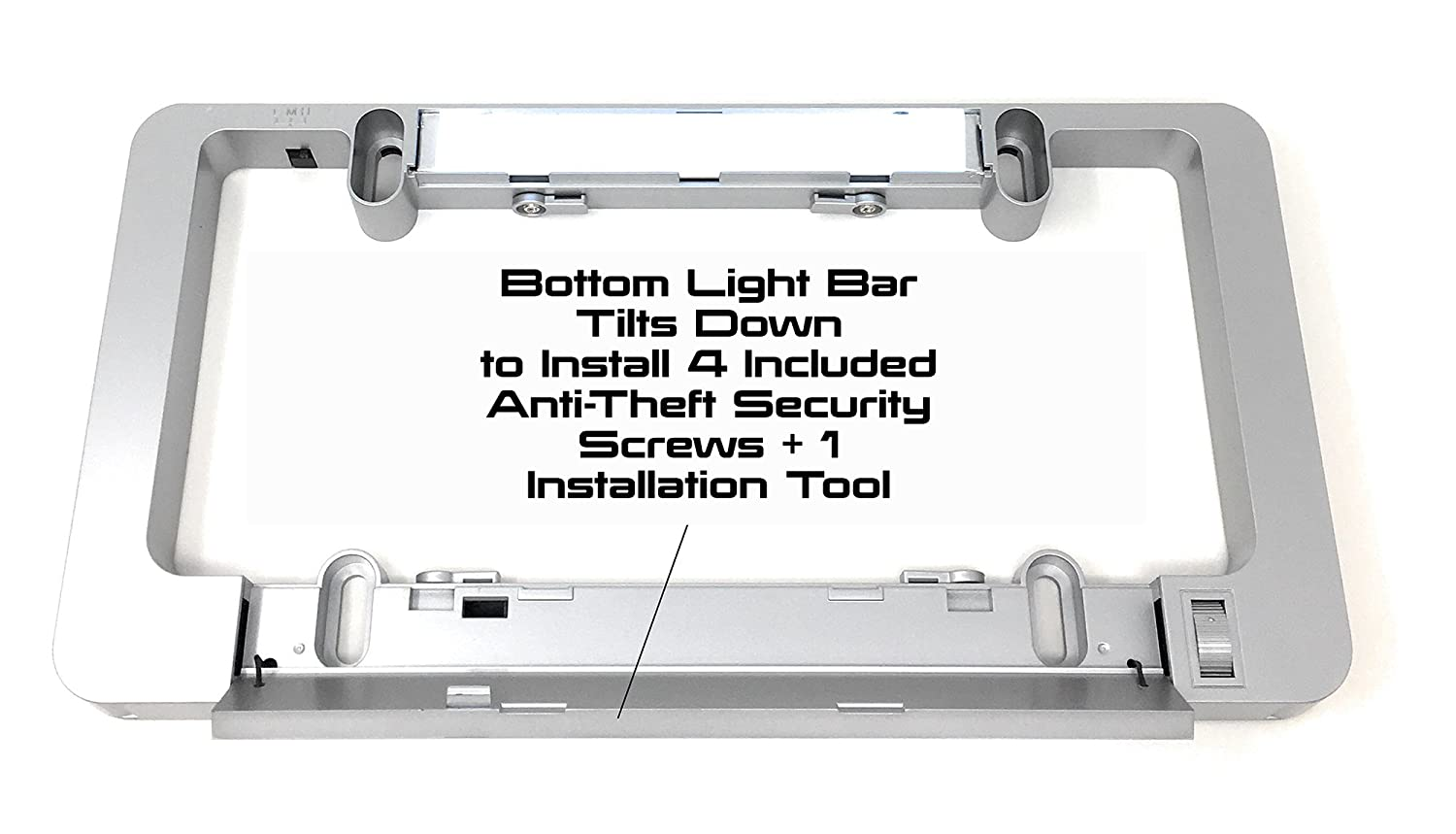 LumiSign Olens The Customizable Color License Plate Frame That Lights Up Automatically Frame Only No Wires Endless Phrases with Interchangeable Inserts One Frame Installs in Seconds