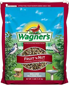 Wagner's 62066 Fruit 'N Nut Blend Wild Bird Food, 4-Pound Bag