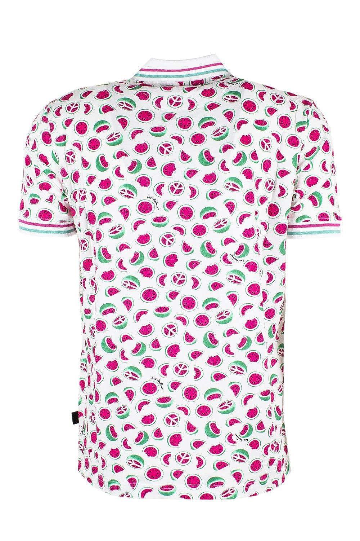 Love Moschino Mens A172ST028539402 White Cotton Polo Shirt