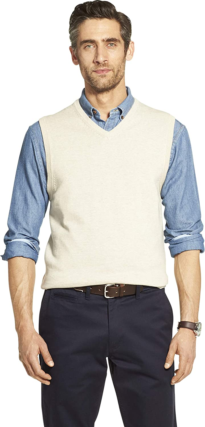 IZOD Men's Premium Essentials Solid V-Neck 12 Gauge Sweater Vest