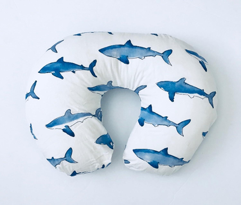 Nursing Pillow Cover ~ Blue Sharks