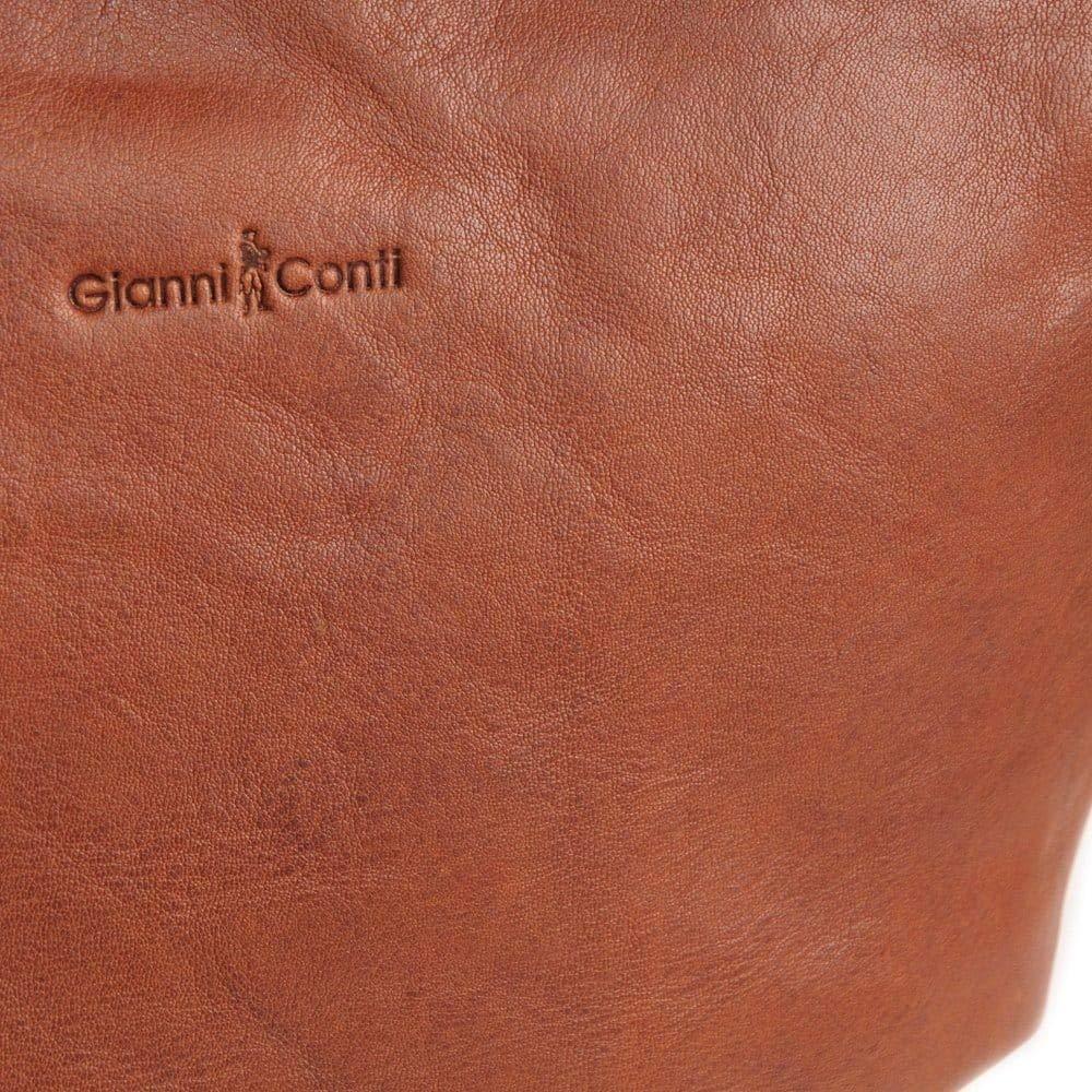 Gianni Conti Verona dam axelväska Cognac-solbränna