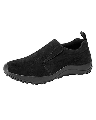 8cec5600ebd Cotton Traders Womens Ladies Soft Touch Lightweight Dual Fit Suede Slip Ons
