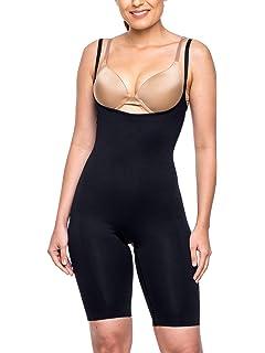 647e2286a08 Miorre Women s Shapewear Seamless Open Bust Long Leg Body Suit Thigh Slimmer