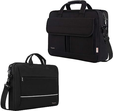 Laptop Bag,BAGSMART 15.6 Inch Computer Bag Travel Briefcase Business Office Bag Shoulder Bag for Men Women Water Resistant Anti Theft Large,Black