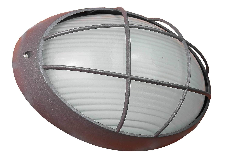 Rustikale Außen-Wandleuchte Lampe in anthrazit/für Wand oder Decken Montage / E27 bis 60W IP44 / Feuchtraum Leuchte Außenleuchte Beleuchtung Garten LierOn - GmbH 2232L antracite