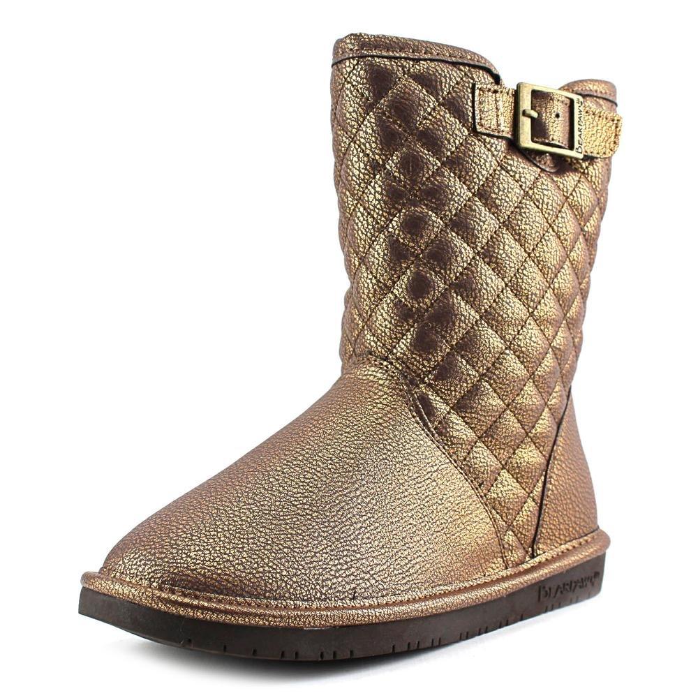 Bearpaw Leigh Anne Women Round Toe Suede Brown Winter Boot B00TE1OT08 8 B(M) US|Chocolate, Bronze