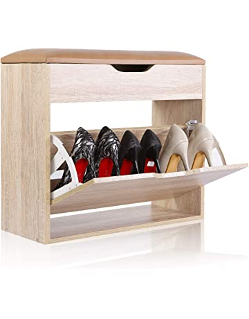 Happy Home Products 3TIER Zapato gabinete-Estante de Zapato Blanco Tienda de hasta 12-