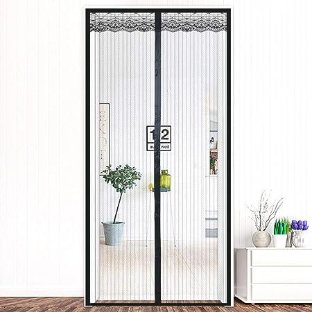 EOVL Cortina Mosquitera Magnética para Puertas Anti Insectos Moscas y Mosquitos, con Imanes Cierre Automático Adhesiva, para Puertas Correderas/ Balcones/Terraza,80 * 190cm: Amazon.es: Hogar