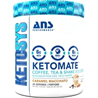 Ans Performance Ketomate - Coffee Booster Caramel Macchiato 293g (20) serving 20 Count