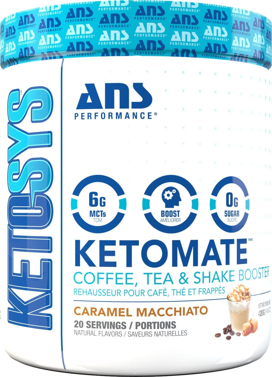 Ketomate - Ketogenic Keto Booster Creamer for Coffee, Tea & Shakes | Zero Sugar & Low Carb Keto Friendly Beverage Enhancer | Boost Energy, Metabolism & Mental Focus (Caramel Macchiato)