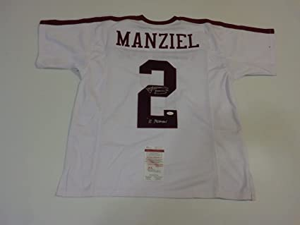 44446289d42 Image Unavailable. Image not available for. Color  JOHNNY MANZIEL  autographed signed Texas A M Aggies white jersey 12 Heisman JSA