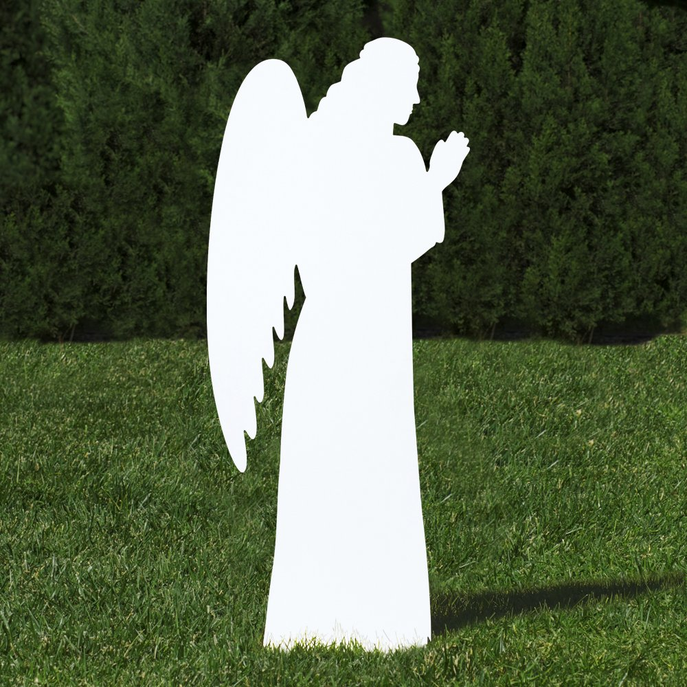 Outdoor Nativity Store Outdoor Nativity Set Add-on - Angel (Standard, White) by Outdoor Nativity Store