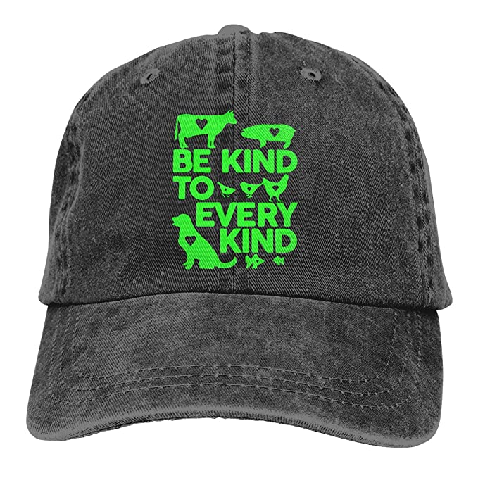 362478a26 2 Pack Vintage Baseball Cap, Unisex Be Kind to Every Kind Vegan0 ...