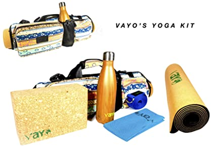 VaYo Concept Yoga Set Kit 6-Piece 1 Yoga Mat, Yoga Strap, Yoga Block, Water Bottle, Yoga Cooling Towel and Beautiful Yoga Bag. This kit is 100% ...