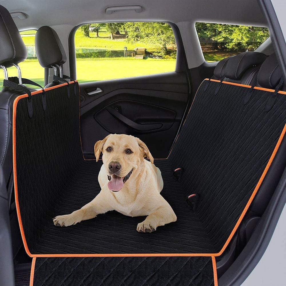 Funda de asiento de perro para coches Oxford asiento trasero antideslizante Cubierta de asiento de coche a prueba de ara/ñazos y hamaca Universal Fit en SUV