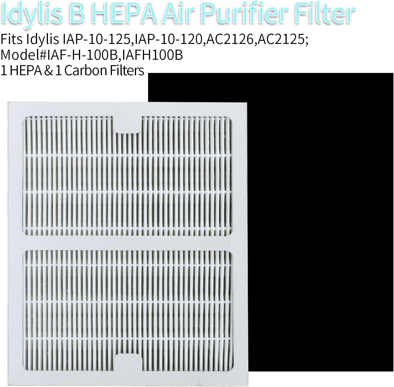 2 Idylis Replacement B Hepa Air Purifier Filters BRAND NEW SEALED AC-2125