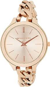 Michael Kors Womens Quartz Watch, Analog Display and Leather Strap MK2469