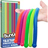 Fidget Toys and Textured Sensory Toys by BUNMO - Textured Stretchy Strings Fidget Toy. Bumpy Fidget Toys for Adults and Kids